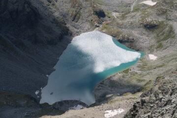 il lago di San Grato dalla cima