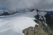 il comodo ghiacciaio per raggiungere il Rutor