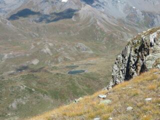 i due laghetti di Thoules, visti salendo