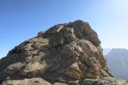 la vetta della Tzaboc (che non ho raggiunto) dall'anticima