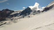 Quasi arrivati alla cresta del Reit, vista verso il Monte Cristallo