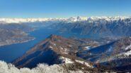 Vista sul Lario dalla cima