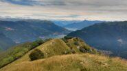 Vista dalla cima verso l'alto Lario