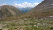 La cima Piazzi in lontananza vista dalla parte alta della val Saliente
