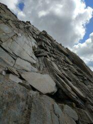Il tratto facile su roccia