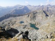 Laghi di Perafica e panorama Val Roja