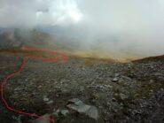 Grosso modo... itinerario poi fuori sentiero per raggiungere il colle Vascoccia: abbandonare il sentiero solo a quota 2630 mt