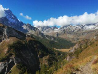 Affaccio sull'Alpe Veglia dal Sentiero dei Fiori