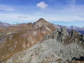 Panorama dalla cima verso il Passo del Muretto.