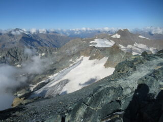 vista del ghiacciaio dall'alto