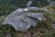 Indicazione, da non perdere, per il Colle e Monte Cresto ad un bivio sentieri dopo l'alpeggio Irogna inf.