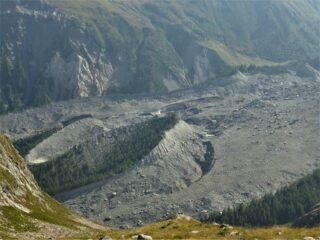 Parte bassa del ghiacciaio del Miage