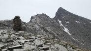 la cresta NO della Punta Violetta da risalire