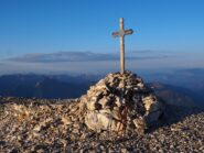 La croce sul Sass de Forcia occidentale.
