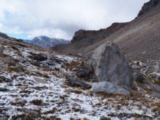 Al Passo Scaletta con i resti della nevicata.