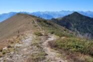 Punta Cressa e Bec di Nona scendendo sulla cresta verso La Bequeraz