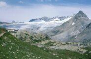 le dimensioni del Glacier du Mulinet nell'agosto 1984