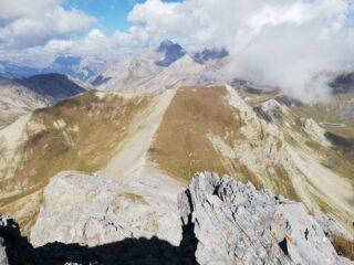 Dalla cima verso Manse e Meyna