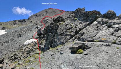 parte alta del percorso osservata dal Colle di Saint Marcel