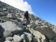 Parte finale su blocchi di roccia
