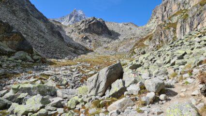 il primo vallone della Comba d'Orny da risalire verso la Cabene d'Orny