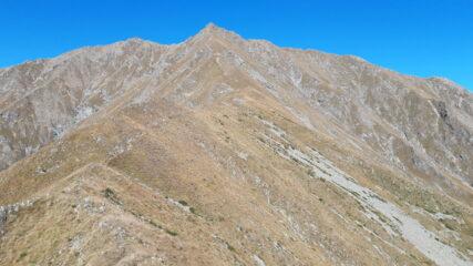 Punta della Croce alla fine della cresta