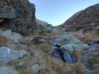 Parte alta del sentiero