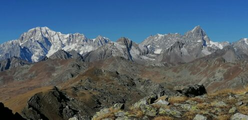 Panorama sul Bianco e Grandes Jorasses