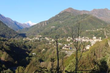 tratto stradale da Fubina a Viù con Rocciamelone sullo sfondo