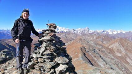 Sulla cima del Mont Vertosan