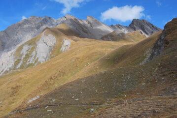 La cresta col Mont Chichet vista salendo