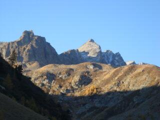 punta Zanotti a Sinistra, Rocca Rossa al centro