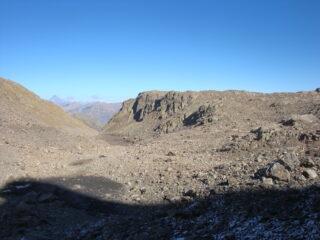 punta Zanotti dalla conca sotto le cime della Montagnetta