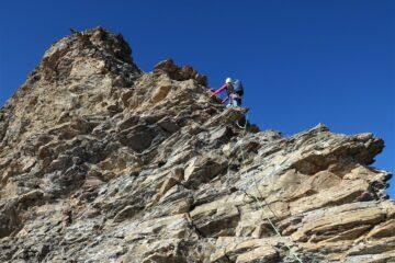 breve tratto in conserva media, con roccia meno marcia
