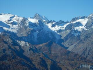 Dal Col de Granon vista sugli Ecrins