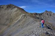 La cresta dopo la Punta di Roburent verso il monte Pierassin