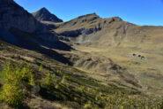 Punta Tempesta, Rocca della Comunetta e Grange Tibert dal sentiero verso la Bassa di Narbona