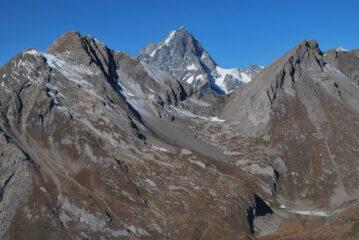 Cartolina dalla vetta: Grande Rochere, Aiguille e Col di Bonalex, Grandes Jorasses