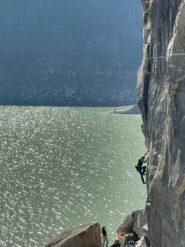 Fessura Perucca e livello del lago