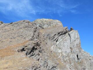La cima vista salendo da sud