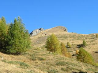 il Peyron visto salendo dal fondo del vallone di Fiutrusa