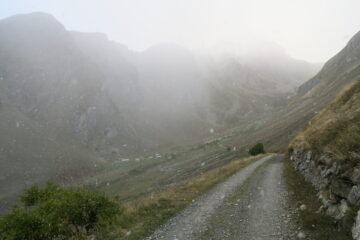 arrivando a Licony comincia a nevicare