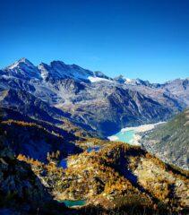 La fortuna di una giornata così limpida in autunno, dalla Bocchetta verso i laghi