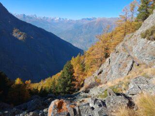 Panorama, colori autunnali, e passerella caratteristica
