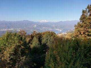 Panorama su Lago d'Orta e Monte Rosa