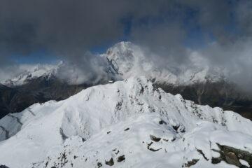 panorama verso la Testa di Licony e Monte Bianco da questa punta