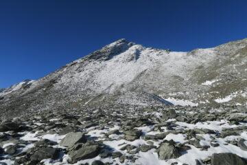 il Mont Menouve al sole, sono salito dal pendio a sinistra