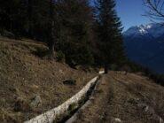 Sentiero e ru, nei pressi di Chacotteyes