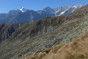 Panorama sulle cime dalla quota 2305 m