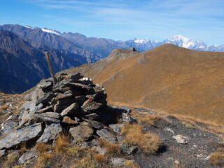 Monte Bianco, P.ta di Mompers e P.ta di Tsasetze dalla P.ta Tsavanis.